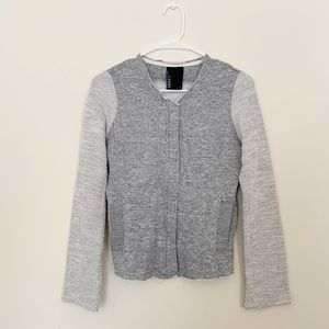 Anthropologie Dolan Tweed Zip Up Contrast Jacket